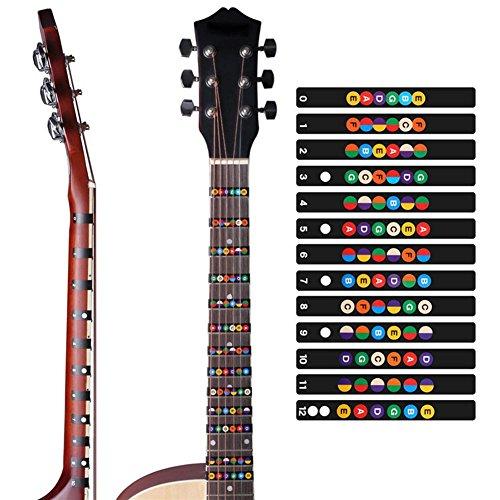 ZHUOTOP Guitar Scale Sticker Neck Fingerboard Fretboard Note Decal Strips - Guitar Fretboard Map