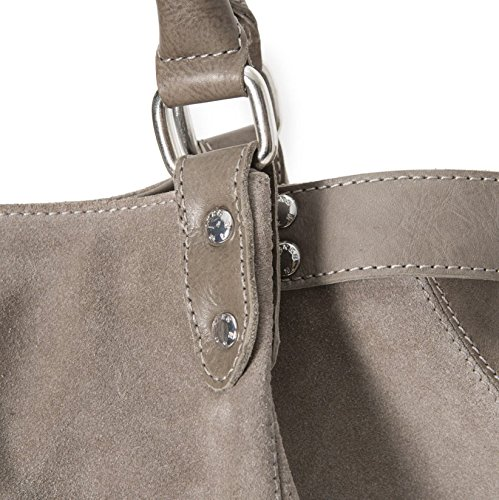 Sac shopping IKKS FISHERMAN Gris Cuir BI95309 24