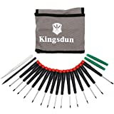 Kingsdun Set Premium 19pcs Best Mini Precision pentalobe Screwdrivers Set Repair Tool Kit for Repairing Computer,ipad,iPhone 6s/7,MacBook Pro,Watch,Samsug S7 and Other Smartphone Tablet