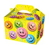 Wicked Party Treat Boxes in 19 great designs and colours - pack of 10 (Happy Face)