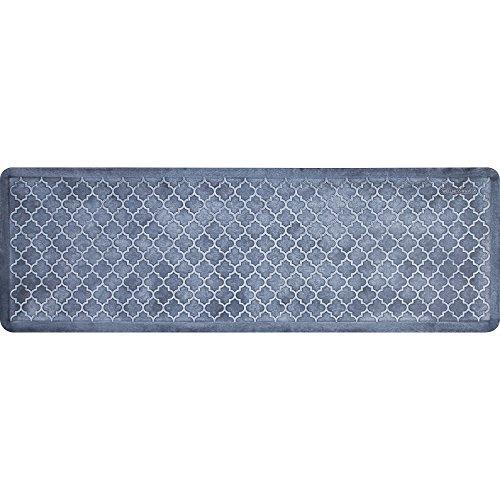 WellnessMats Estates Collection Coastal Series Sea Mist Trellis 6 x 2 Foot Anti-Fatigue Mat