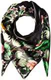 Echo Women's Garden Party Silk Square Scarf, black, One Size