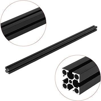 negro anodizado 2020 con ranura en T marco de extrusi/ón de aluminio para CNC Perfiles de aluminio SONSAN 1000 mm de longitud