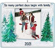 Hallmark Keepsake Christmas Ornament, Year Dated 2021, Our Family Photo Frame