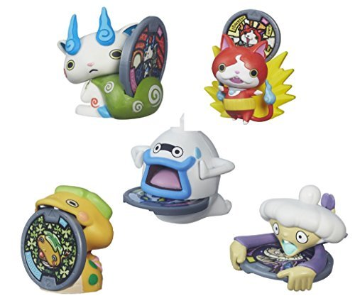 Wave 4 Action Figure Case - BEST Seller Yo-Kai Watch Medal Moments Wave 2 SET OF 5 Action Figure - Jibanyan Whisper Komasan Noko Tattletell