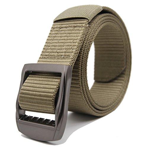 3 D Belts (GRASEP Nylon Webbing Tactical Duty Belt 6 Sizes 3 Colors (Green + D Buckle,)