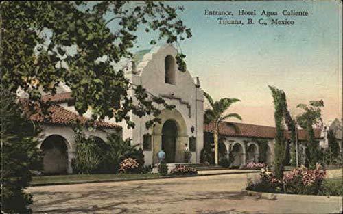 Hotel Agua Caliente - Entrance Tijuana, Mexico Original Vintage ()