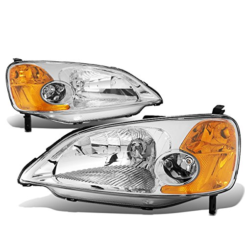 DNA Motoring HL-OH-HC01-CH-AM Headlight Assembly, Driver and Passenger Side