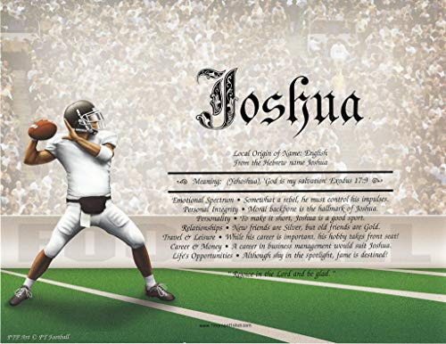 Football - Personalized ANY First Name Meaning Keepsake Print 8.5