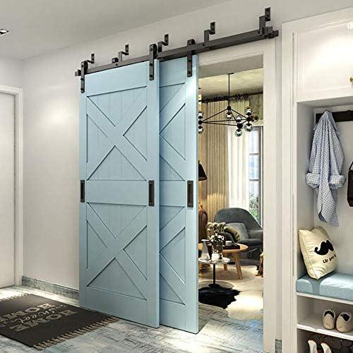WINSOON - Armario de madera para puerta corrediza doble, estilo ...