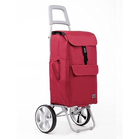 Carrito de compras Carrito de utilidad plegable de 2 ruedas con rodamientos de rueda Carrito de