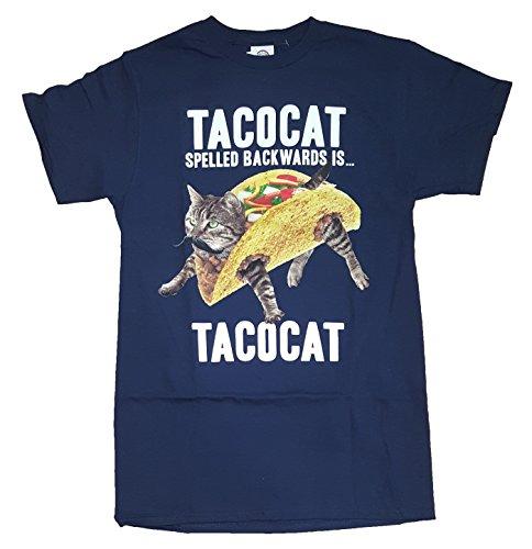 (TACOCAT Spelled Backwards is TACOCAT Kitty Cat Navy Graphic T-Shirt - 3XL)