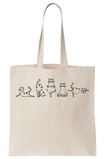 Amazon.com: Cats Doing Yoga Canvas Tote Bag: Clothing