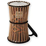 "REMO Talking Drum,  6"" Diameter, 11"" Height, Fabric Afr Stripe"
