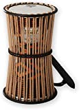 REMO Talking Drum,  6'' Diameter, 11'' Height, Fabric Afr Stripe