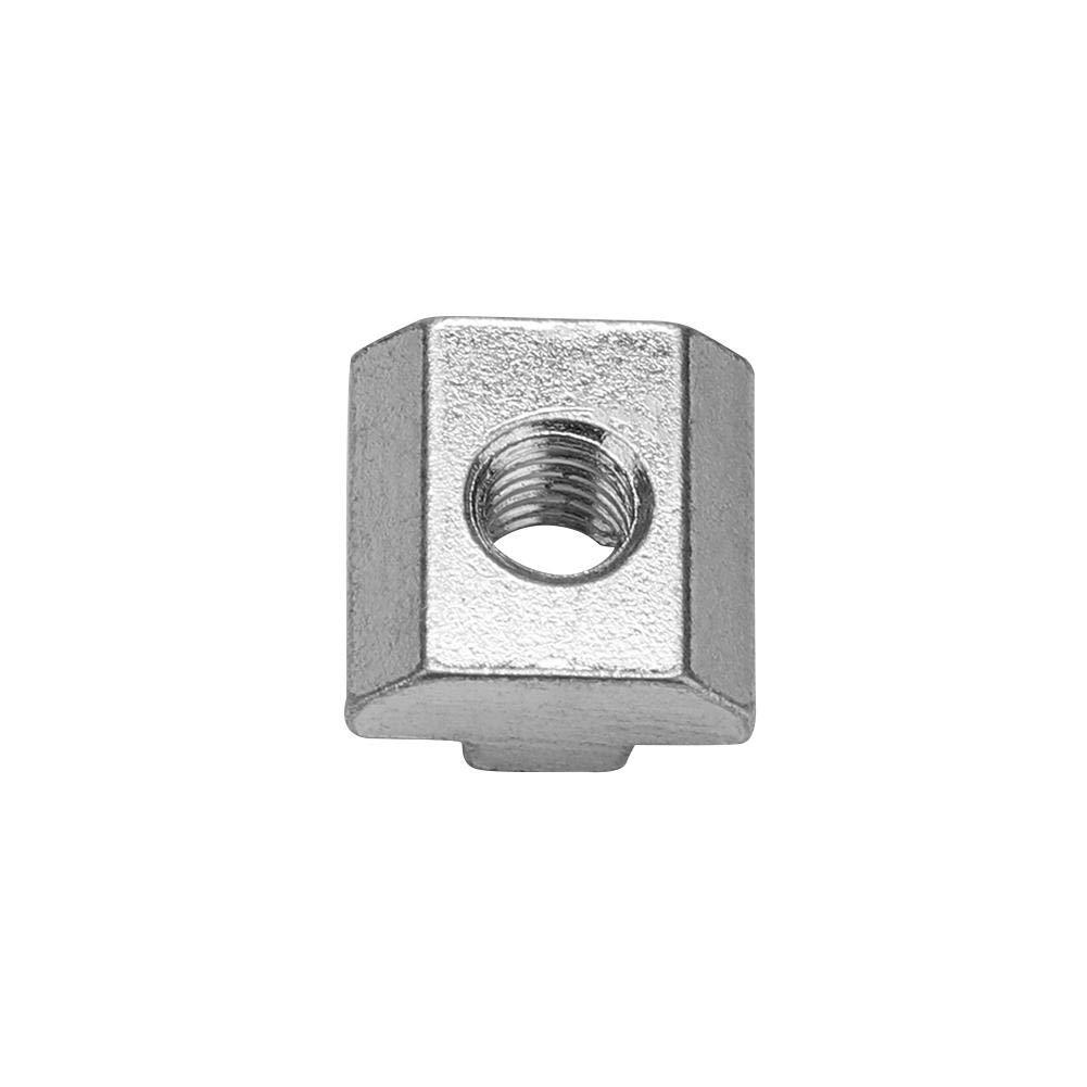 M8*20 * 9.6 50 piezas de acero al carbono 50 serie deslizante Tuerca para ranura en T para perfil de aluminio Accesorios Est/ándar Europeo