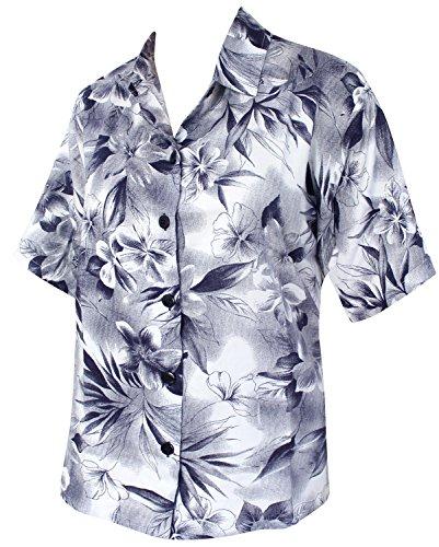 La Leela camisa mujeres clásicas señoras botón llano rayón peso ligero abajo llano la manga corta todo en 1 oficina eventuales sala estar lesuire tema fiesta en la playa noche alineada azul regulares Azul