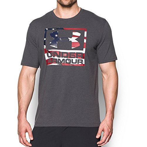 Under Armour Men's Freedom BFL T-Shirt, Carbon Heather/White, X-Large