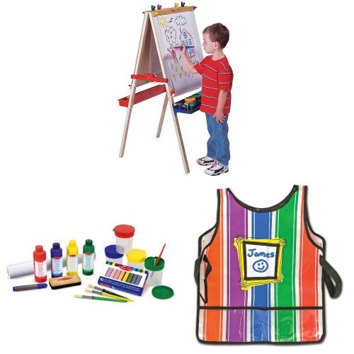 Deluxe Easel Bundle with Accessories and Smock