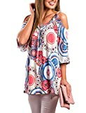 Women's Blouses Casual Loose Bohemian Pull Over for Party Club Workout Wedding
