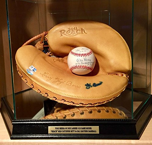 Yogi Berra Don Larsen Signed Autograph Game Model Glove Oml Baseball Yankees MLB PSA/DNA Certified from Sports Collectibles