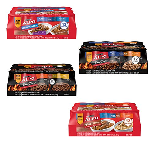 (Purina ALPO Gravy Cravers Adult Wet Dog Food Variety Pack - (12) 13.2 oz. Cans (8 Flavor Variety 4 Pack))
