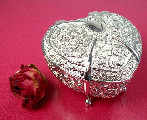 Footed Heart Silverplated Wedding Arras Box and Unity Coins Arras de (Arras Box)