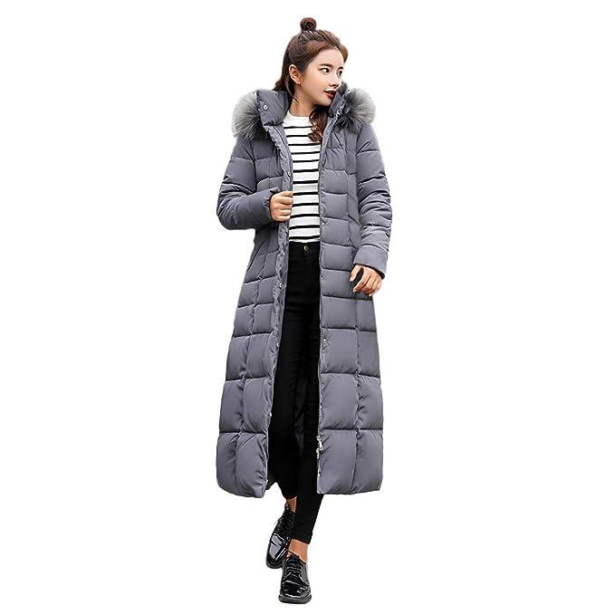 Beladla abrigo De Mujer Invierno Mujers Abrigo De Plumas Moda Slim Largo Acolchada Chaqueta Casual Jacket: Amazon.es: Ropa y accesorios