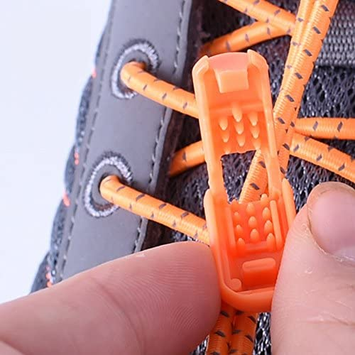 Outop 1ペアpull-tight no-tie Elastic Shoelaces athlete-friendly Shoelaces Never Tie靴Again (ローズレッド)