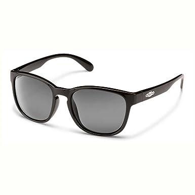 Suncloud s-loppgybk Mujer Negro Marco Gris Lente Gafas de sol polarizadas caminante
