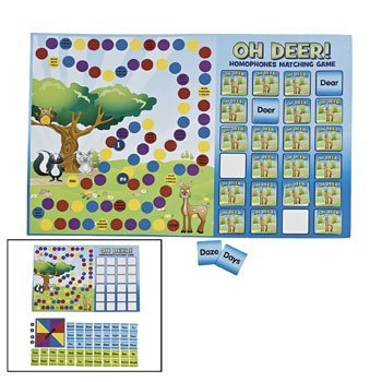 Amazon Com Oh Deer Homophones Matching Game Curriculum Projects