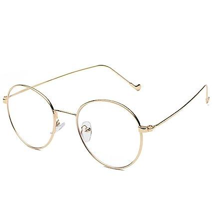 BiuTeFang Gafas de Sol Mujer Hombre Polarizadas Arte Retro Gafas Marco Miopía Ultra Ligera Aleación Fina