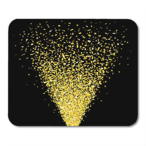 - Boszina Mouse Pads Shooter Colorful Party Gold Confetti Cannon Shot Falling Streamer Mouse Pad for notebooks,Desktop Computers mats 9.5