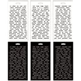 Big Chat Stickers by Tim Holtz Idea-ology Big Chat Stickers, 8.25 x 4.25 Inch Sheet Size, 478 Stickers, Black/White, TH93192