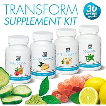 Weight Loss Diet Supplement Kit Made with High-Quality Ingredients - Bundle Includes: (One Slim Down, One Appetite Support, One Collagen, One Colon ...