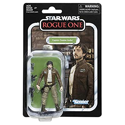 Star Wars The Vintage Collection Captain Cassian Andor, 3.75-inch Action Figure: Toys & Games