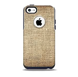 Woven Fabric Over Aged Wood Skin for the iPhone 5c OtterBox Commuter Case (Decal Only)