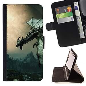 Momo Phone Case / Flip Funda de Cuero Case Cover - Antiguo Flying Dragon;;;;;;;; - Sony Xperia M5