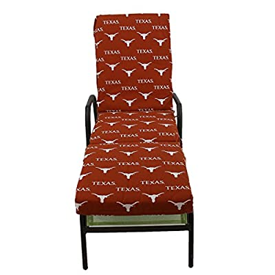 Texas Longhorns 3-Piece Chaise Lounge Cushion by College Covers: Sports & Outdoors