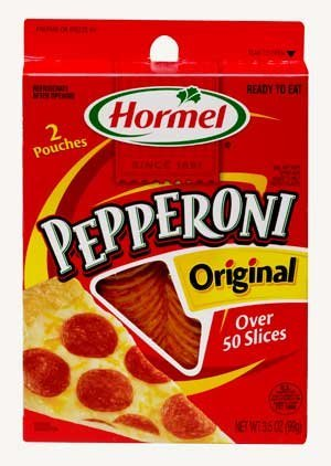 Pepperoni Pizza Slice - Hormel, Pizza Toppings, Original Pepperoni, 3.5oz Box (Pack of 4)