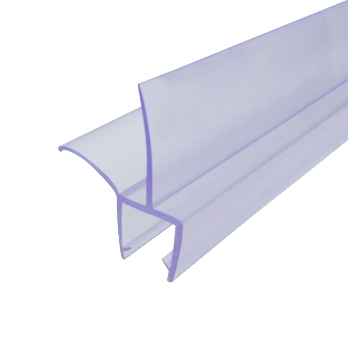 """Cozylkx Frameless Glass Door Bottom Seal, 5/16 Inch Glass, 0.63"""" Gap, Shower Room Bathroom Door Sealing Sweep Stop Shower Leaking"""