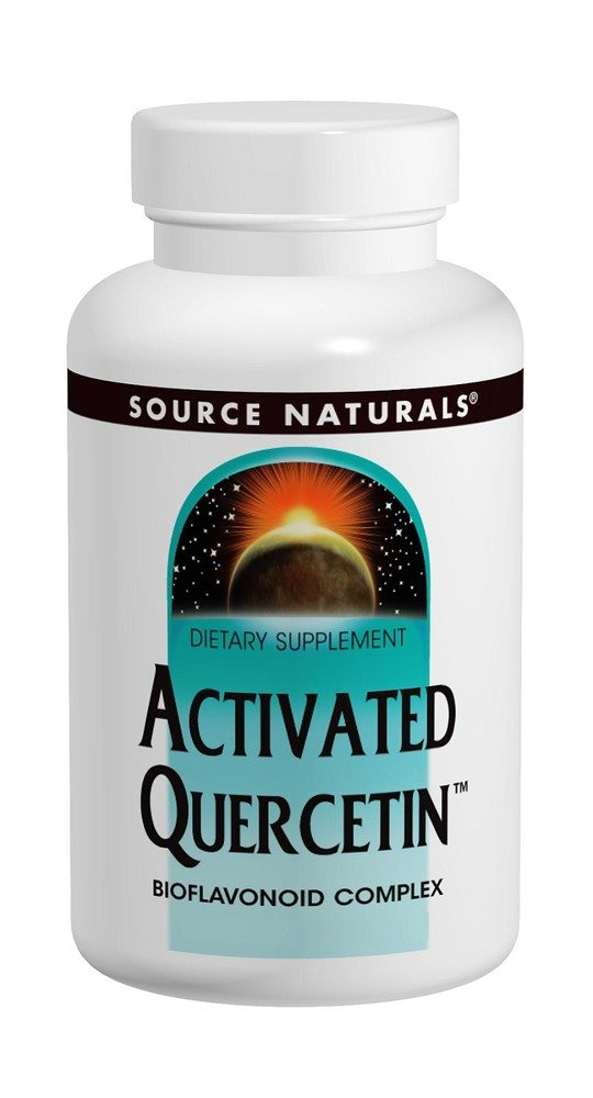 Source Naturals Activated Quercetin Bioflavonoid Complex Pineapple Enzyme With Bromelain, Magnesium & Vitamin C - 200 Tablets
