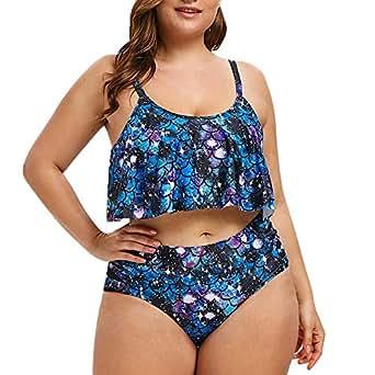 Kekebest Swimsuit for Womens,Floral Print Bikini Set Swimming Two Piece Swimwear Beach Suit