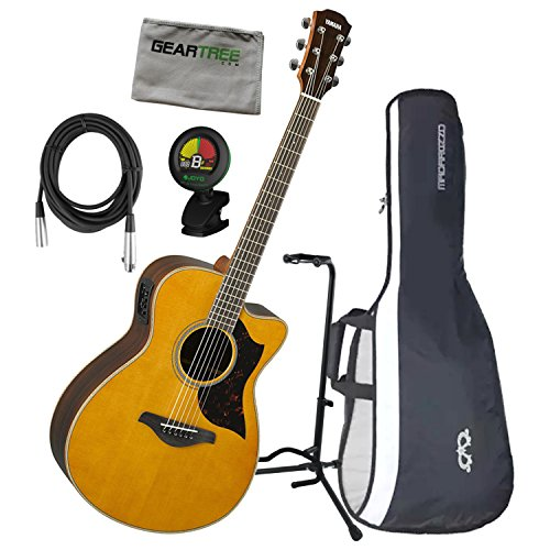 Yamaha AC1R VN A Series Concert Size Vintage Natural Acoustic Electric Guitar w/