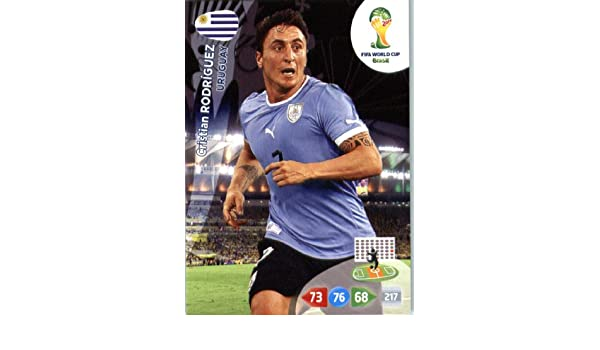 2014 FIFA Panini Adrenalyn World Cup Soccer Card Cristian Rodriguez Uruguay at Amazons Sports Collectibles Store