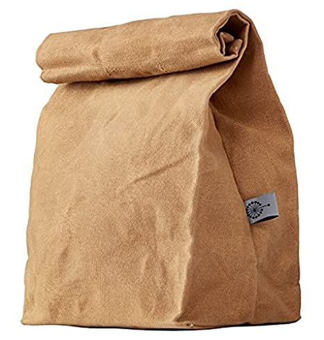 2c1846adb23e COLONY CO. Lunch Bag, Waxed Canvas, Durable, Plastic-Free, for Men, Women  and Kids, Brown