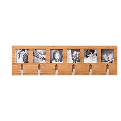 Amazon.com: Coatrack Picture frame Wall-mounted Wooden Coat ...