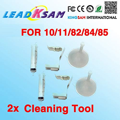 Yoton 2X Leadksam Printhead Cleaner Kits Compatible for HP11 HP84 85 Print Head Cleaning Tools for Designjet 500 800 510 130 - Cleaning Kit Designjet
