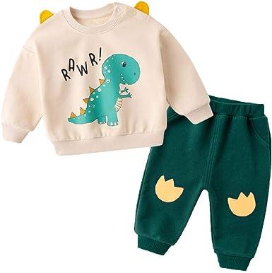 Children KIds Boy Spring Autumn Winter Cartoon Dinosaur Stripe Letters Pants