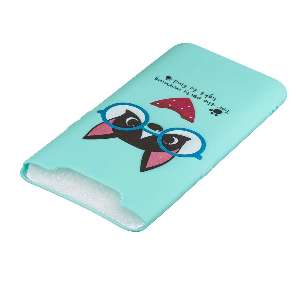 WOOHOO compatible con Funda Samsung A80 Silicona Cerdito Rosa cuerda larga